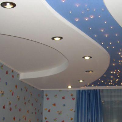 Синий - голубой потолок