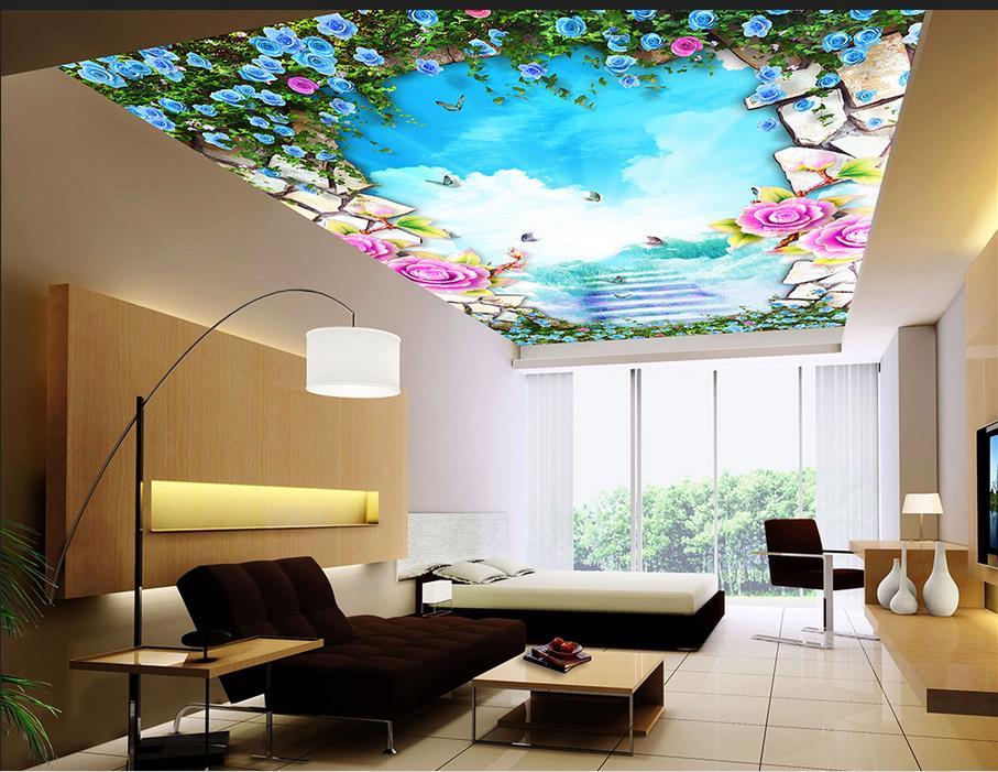 померанские обои на потолок цветы змея буровато-серого цвета