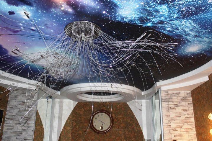 потолок фотопечать космос наши