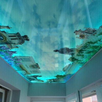3д потолок