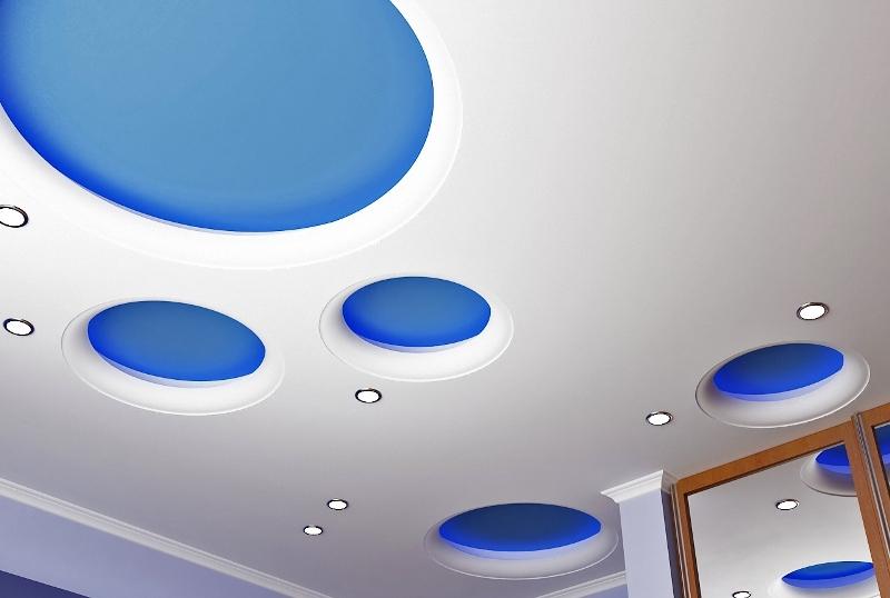 Необычное оформление натяжных потолков для детской комнаты