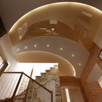 Натяжной потолок уровневый