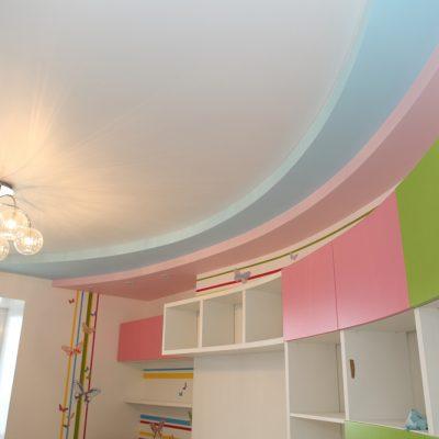Разноцветный потолок в детской