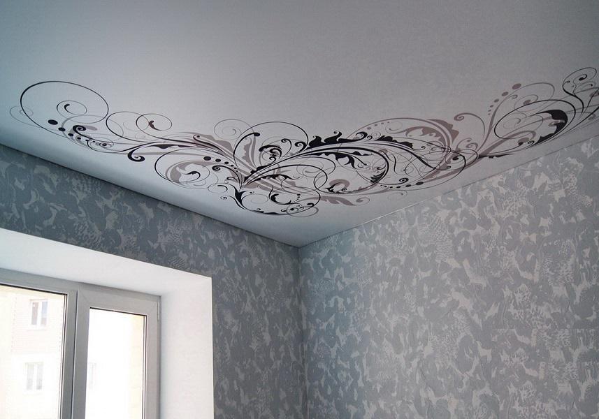 Натяжной потолок с узорами картинки