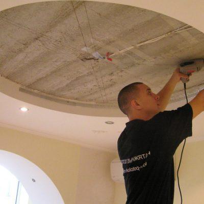 Как делают потолок