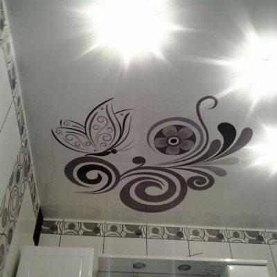 Потолок с рисунком фотопечать