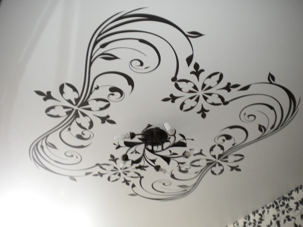 нас можете черно белая картинка на потолок рассказывает том, какие