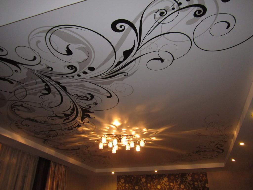 Натяжной потолок картинка узоры