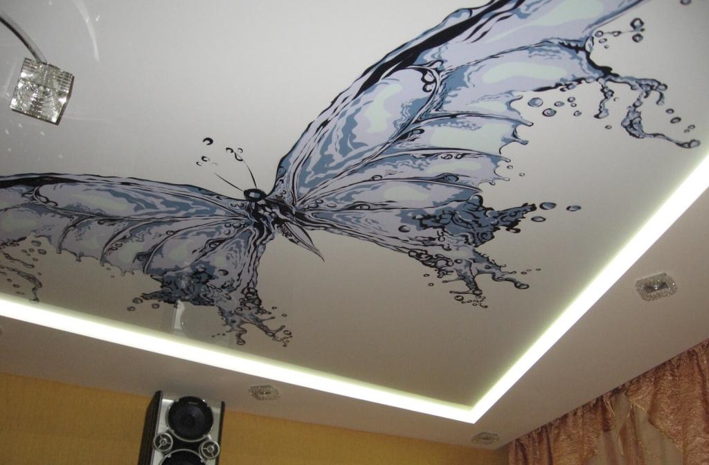 Прикольные рисунки на натяжных потолках, открытку цветам