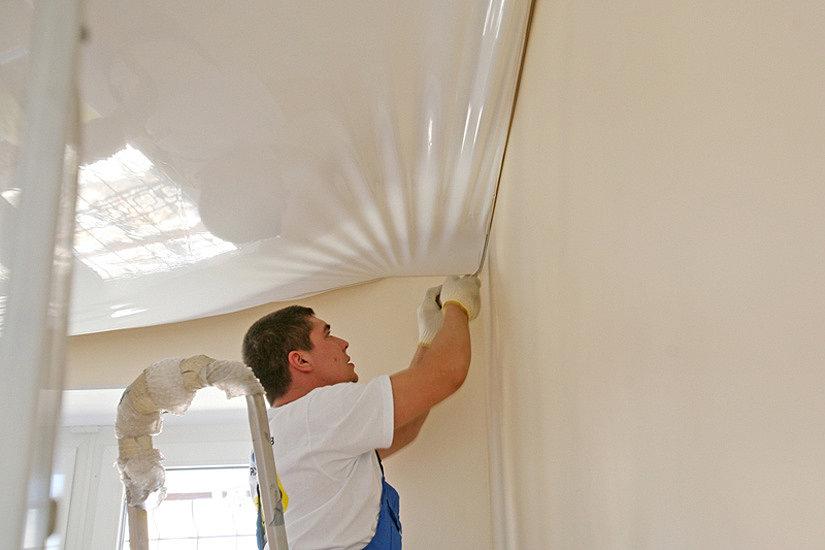 Как снять натяжной потолок: угловой, частично, своими руками, инструкция