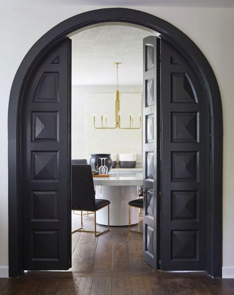 Арочная дверь гармошка