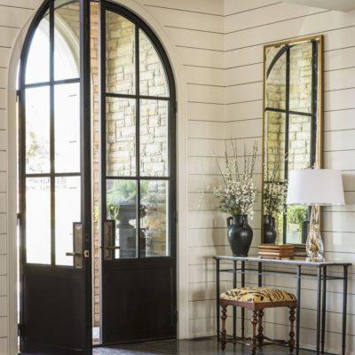 Металлические арочные двери