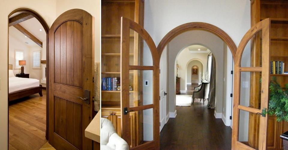 Межкомнатные одностворчатые и двухстворчатые арочные двери