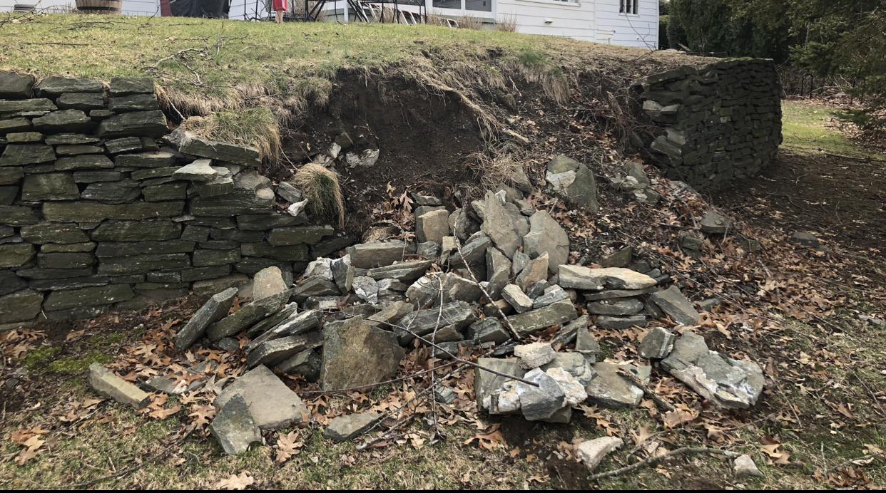 Разрушение подпорной стенки