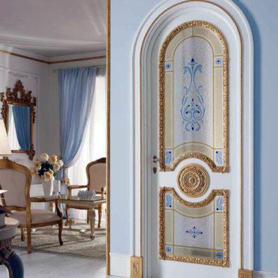 Арочная дверь в стиле барокко