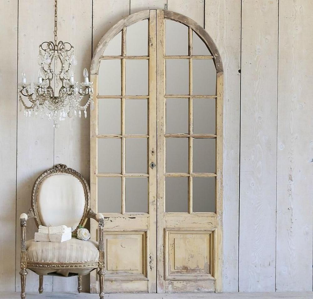 Межкомнатная арочная дверь шебби-шик