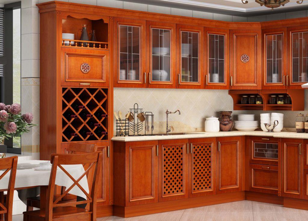 кухня из шпона